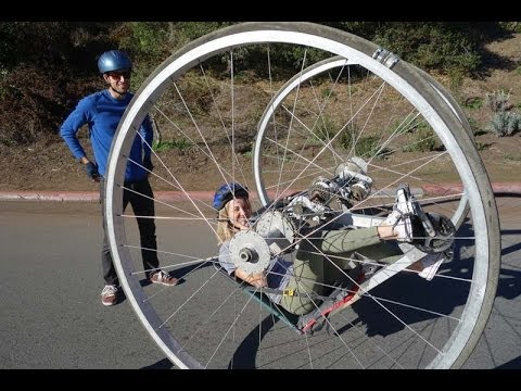 Mutant Big Wheel Bicycle- Flips and Flops - YouTube