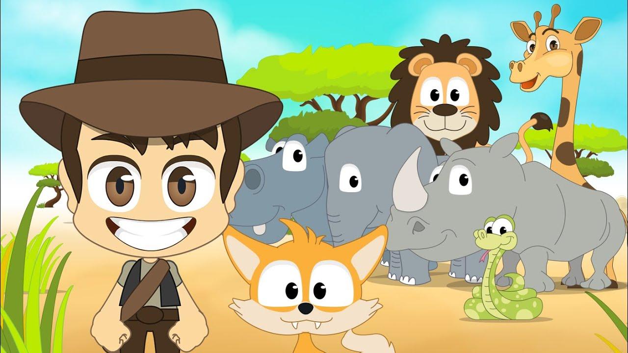 Wild Animals In English For Kids الحيوانات للأطفال حيوانات الغابة باللغة الإنجليزية للاطفال Youtube
