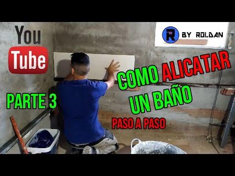 COMO ALICATAR BAÑO PASO A PASO PARTE 3