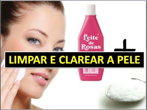 Limpar E Clarear A Pele Com Leite De Rosas E Bicarbonato Youtube