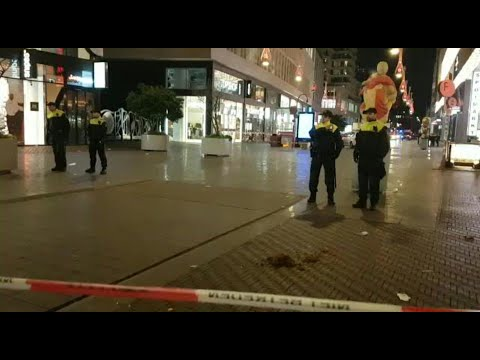 Police on the scene after stabbing in The Hague   AFP