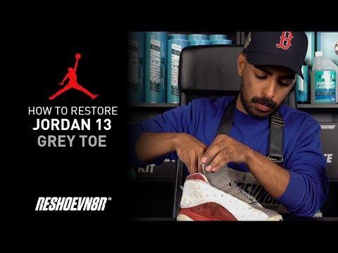Vick Almighty Restores Air Jordan Grey Toe 13 With Reshoevn8r!
