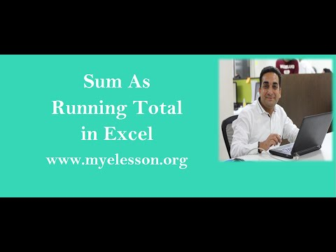 MS Excel Sum As Running Total