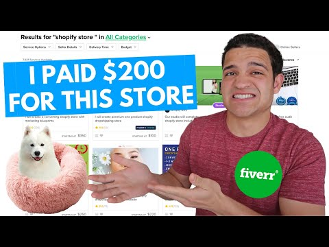 I PAID $200 FOR A SHOPIFY STORE ON FIVERR | LOOK AT WHAT I GOT: Shopify Dropshipping 2020 Tutorial