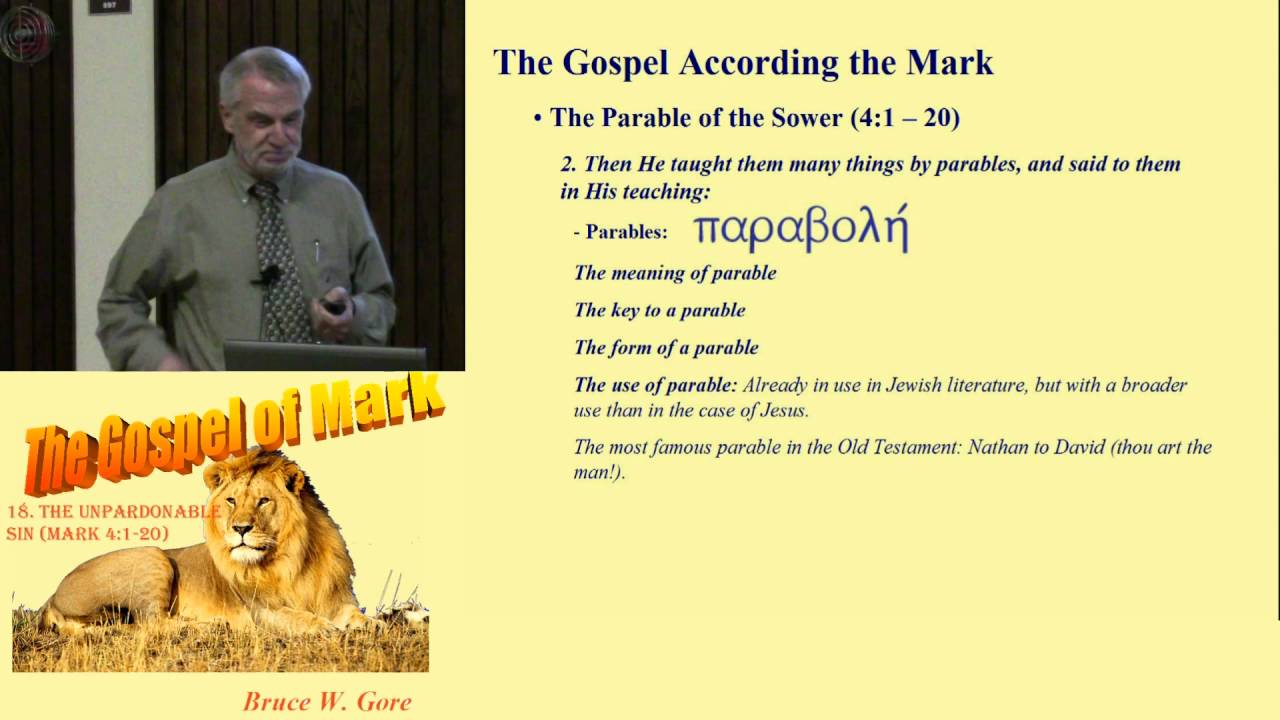 18  The Parable of the Sower (Mark 4:1-20)
