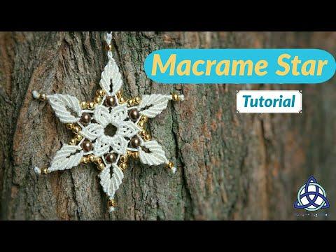 Easy Macrame Star Tutorial / Macrame Flower DIY