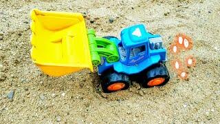 Мультик про машинки. Синий трактор,самосвал,бульдозер,экскаватор,подъемный кран.