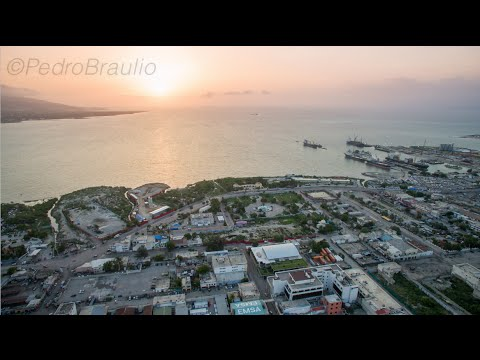 Aerial View of Port-au-Prince, Haiti.