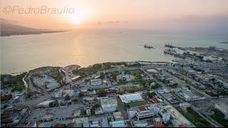 Aerial View of Port-au-Prince, Haiti.