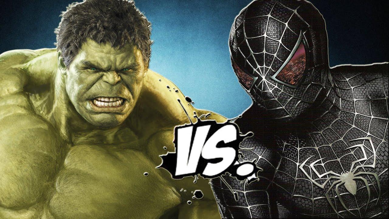 The Incredible Hulk vs Black Spiderman - YouTube