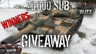 20,000 Subscriber Giveaway! Winners - Wot Blitz
