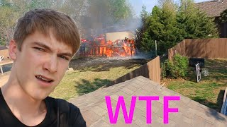 FIRE DURING VLOG!!
