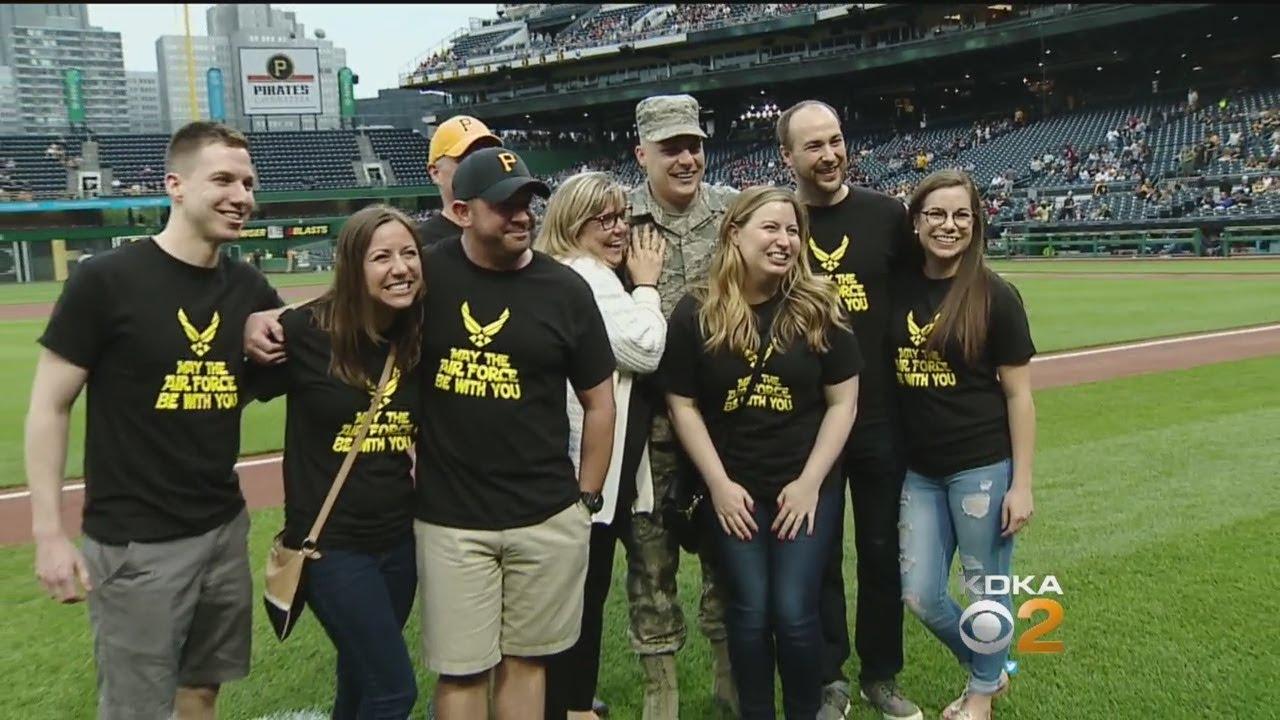 Airman Surprises Family At PNC Park