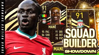 91 IF Sadio Mane Squad Builder Showdown!!!
