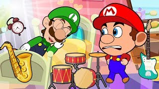 Cartoon Super Mario Brothers Growing Up Compilation | How to call a sleeping friend to wake up