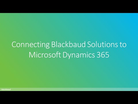 Konektis | Connecting Blackbaud Solutions to Microsoft Dynamics 365