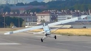 extreme takeoff piper pa 18 150 super cub sabadell airport