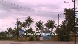 Severe Tropical Cyclone Yasi Chase part 1 Cardwell