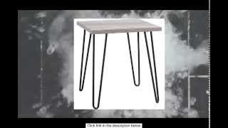 Mid Century Modern End Table | Versatile Colors And Hairpin Metal Legs Make A Statement In Your Home
