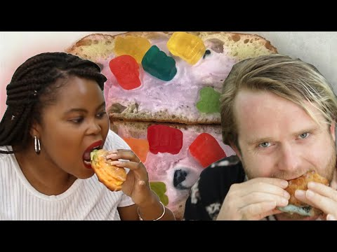 People Try Stuffed Ice Cream Donuts