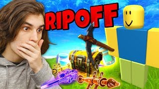 Playing a FORTNITE RIPOFF IN ROBLOX!?