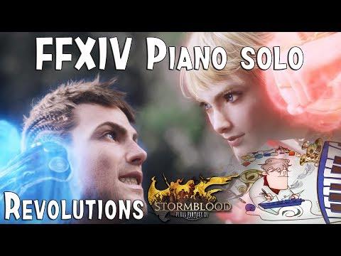 "Final Fantasy XIV : STORMBLOOD main theme ""REVOLUTIONS"" for piano solo."