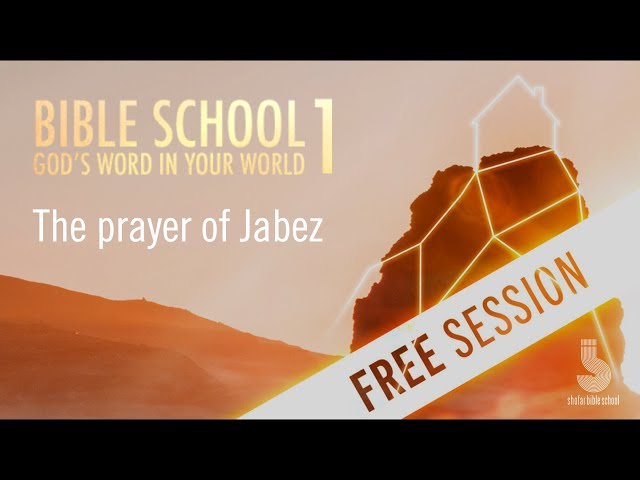 The prayer of Jabez (free session)