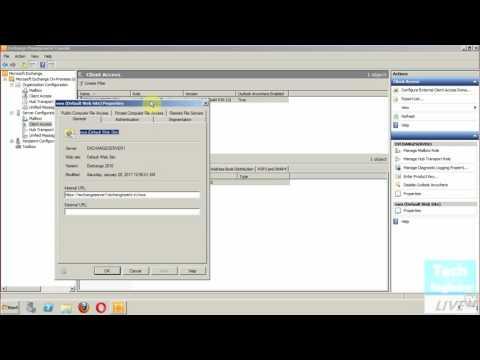 Configure OWA (Outlook Web App) in Exchange Server 2010