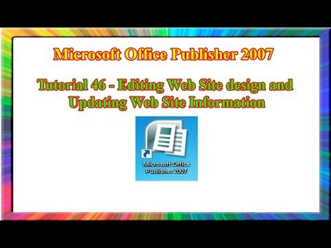 Microsoft Publisher 2007 How To Edit Website Design And Update Web Information Youtube