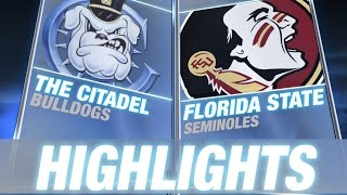The Citadel vs Florida State | 2014 ACC Football Highlights