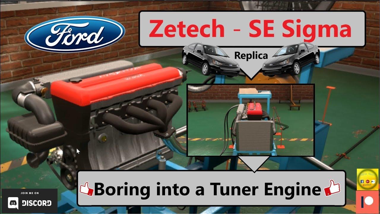 Ford Zetec Se Inline 4 Engine Replica Boring Into A Tuner