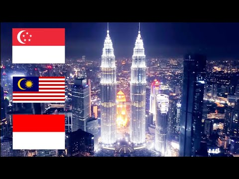 Singapore VS Kuala Lumpur VS Jakarta (Skylines) | The Capital Cities Of Singapore Malaysia Indonesia