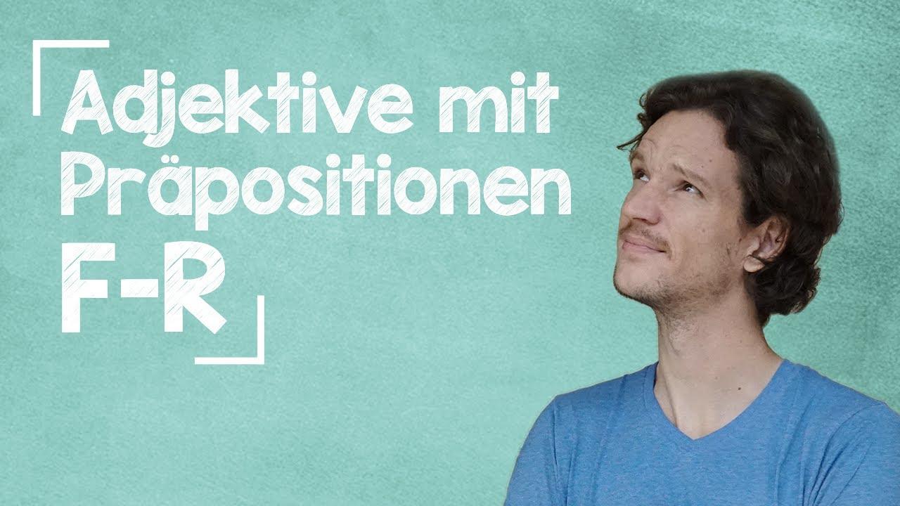 lingoni GERMAN (454) – Adjektive mit Präpositionen- F bis R – B2
