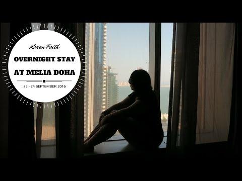 Overnight Stay at Melia Doha | Karen Faith Vlogs