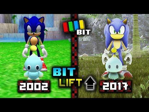 Sonic Adventure 2 Chao Garden (2002) vs. (2017) Graphics | Bit Lift [TetraBitGaming]