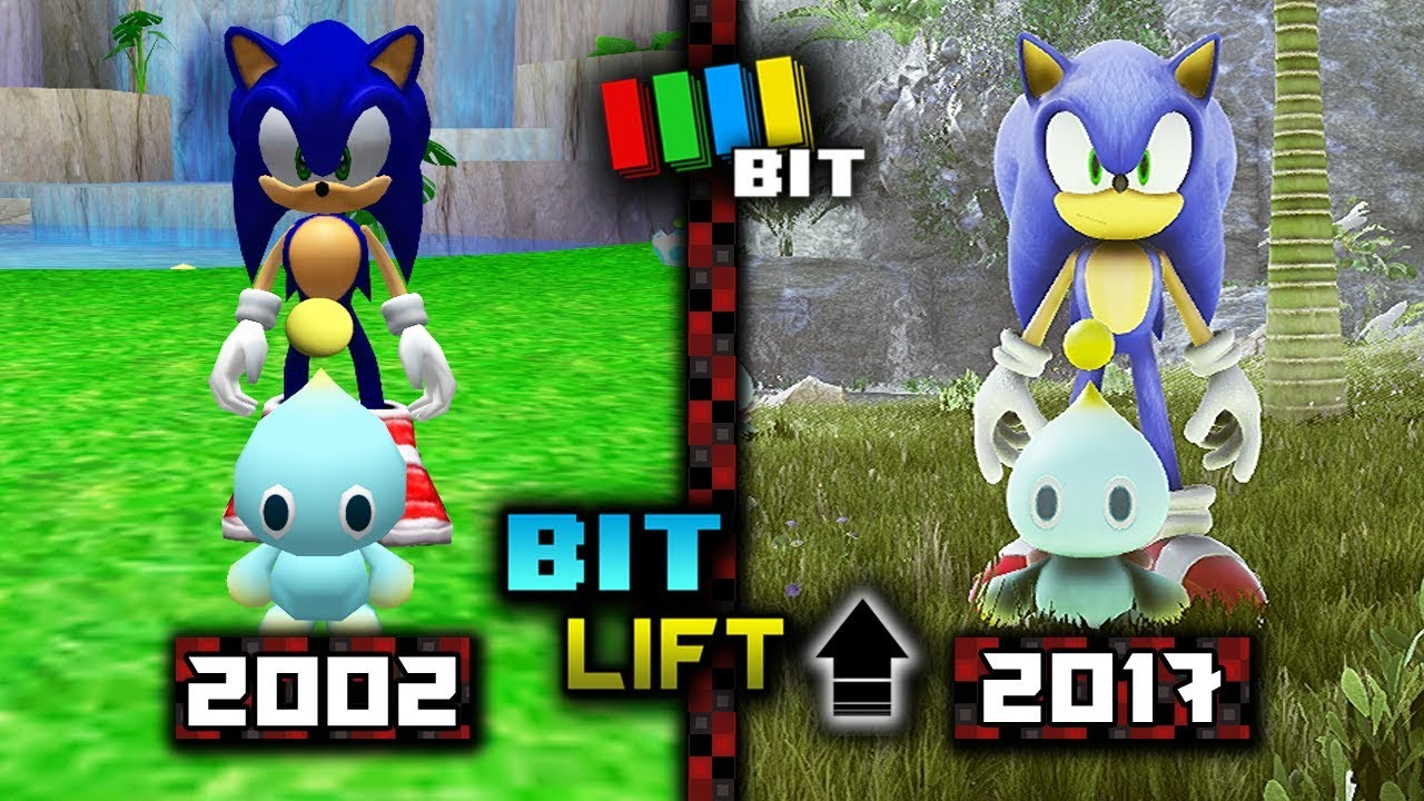 Sonic Adventure 2 Chao Garden (2002) vs  (2017) Graphics | Bit Lift  [TetraBitGaming]