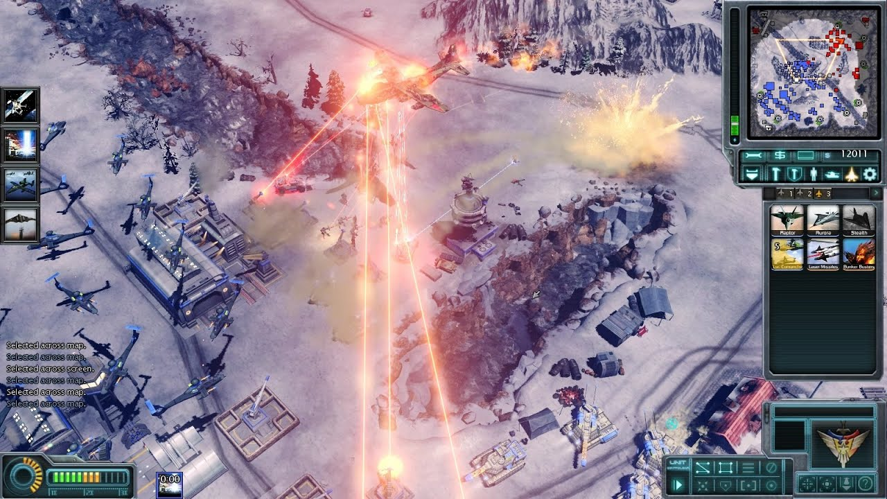 C&C Red Alert 3: Generals Evolution Mod BETA 0.21 - Laser Death From Above!