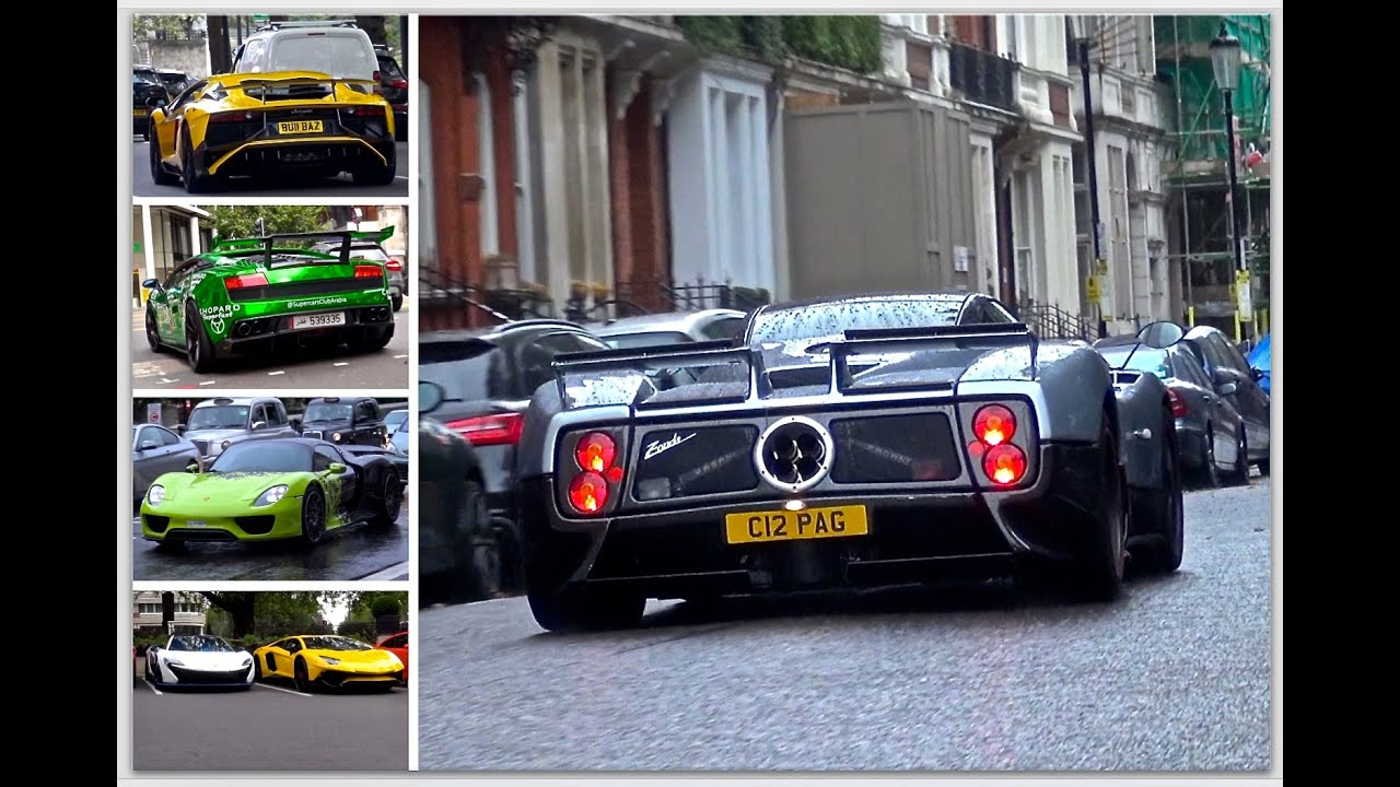 London Supercar Insanity Zonda S Laferrari Veyron