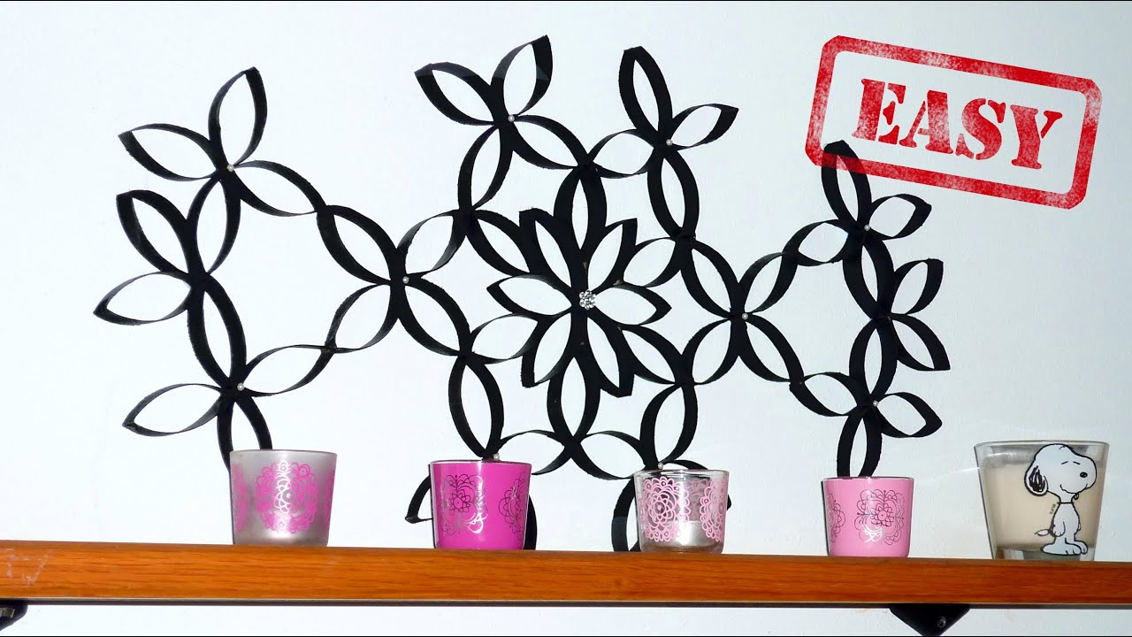 Diy Room Decor A Wall Art With Toilet Paper Rolls