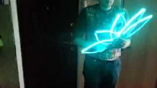 Контурные мультирежимные светодиодные веера Лотосы - демонстрация режимов