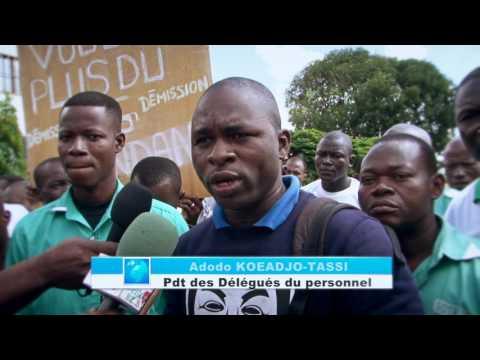 Les employés de la Société de transport de Lomé en colère