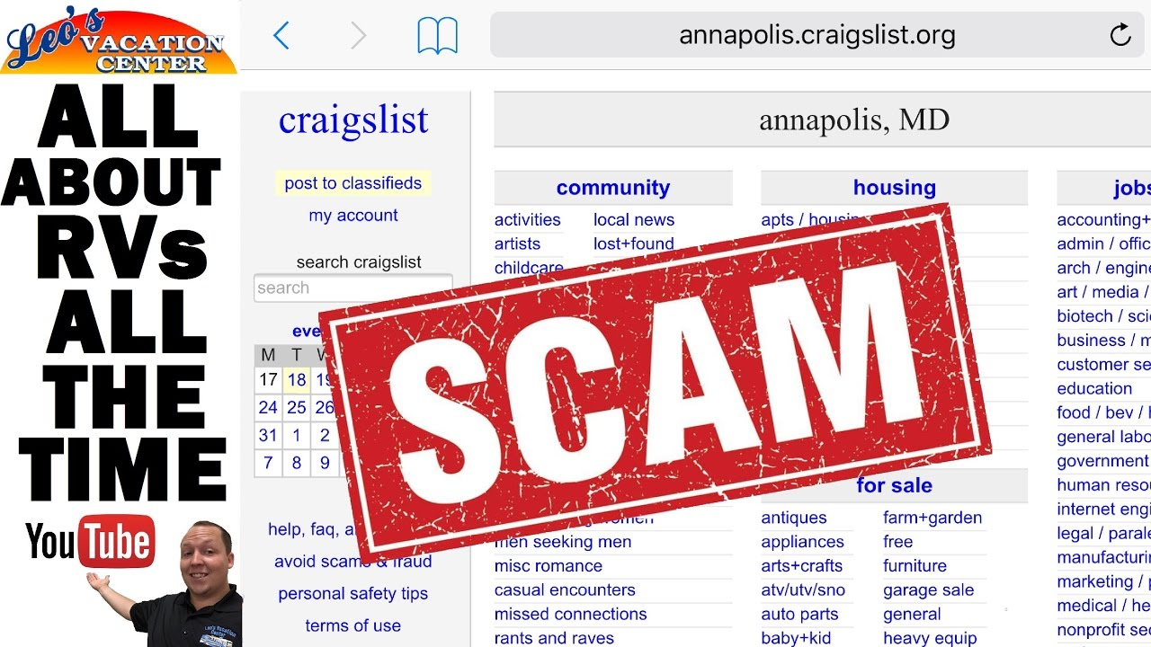 How To Spot A Scam On Craigslist When Buying A RV YouTube - Craigslist poolesville md