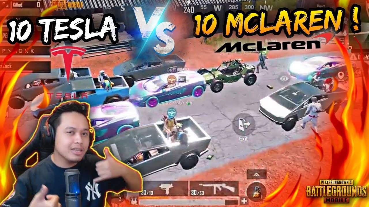 10 TESLA CYBERTRUCK VS 10 MCLAREN ! | PUBG MOBILE