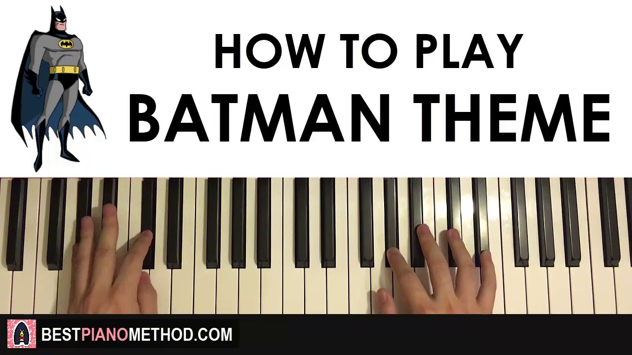 HOW TO PLAY - Batman Theme Song (Piano Tutorial Lesson)