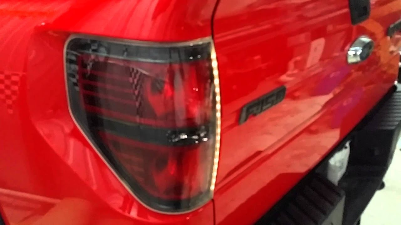 F150 ford raptor svt multi color tail light rings - YouTube