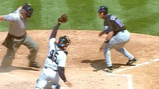 Roger Cedeno steals home for Mets vs. Yankees
