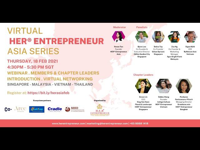 From Farm to Fork I HER® Entrepreneur Asia Series 18 February 2021