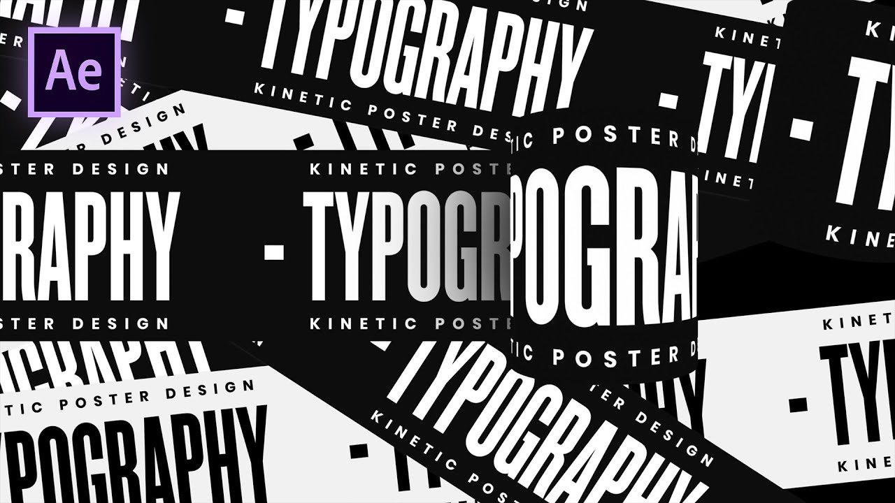 Rolling Typography Motion Graphics in After Effects