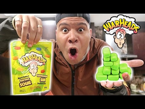 DIY WARHEADS BUBBLE GUM (TURN ANY CANDY TO GUM) *EXTREME SOUR*