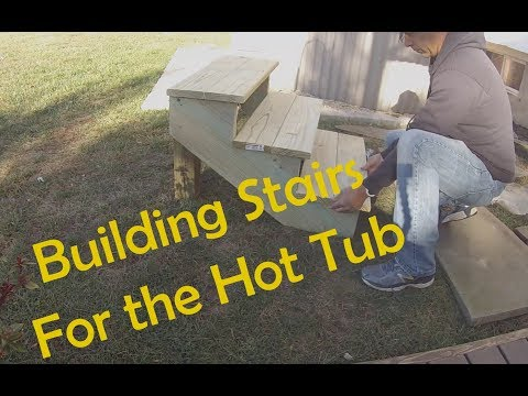 Building Stairs for the Hot Tub